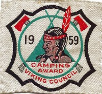 1959 Many Point Camping Award - Patch from Mr. Steve Young - Thank you!
