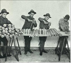 Scouts making Lanterns.      Click for Larger Image