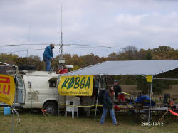 KOBSA broadcasting on a windy day