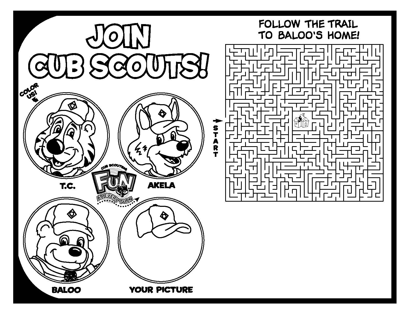 cub scout coloring pages free - photo#32